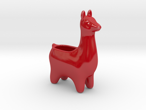 Llama Planters - Small in Gloss Red Porcelain