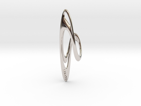 Loop Earring or Pendant top  in Platinum