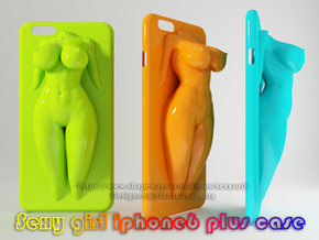 IPhone6 Plus Case Sexy Girl 005 in White Strong & Flexible