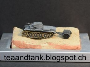 1/144 trailer with oil drums for Wehrmacht tanks in White Strong & Flexible