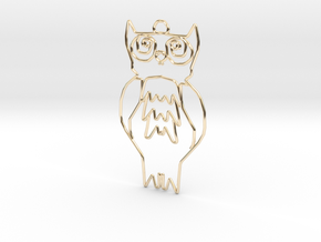 Owl in 14k Gold Plated Brass