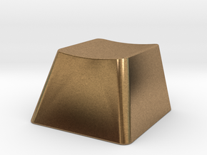 Customizable R1 MX Keycap THICK in Natural Brass