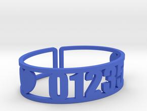 Danbee Zip Code Cuff in Blue Processed Versatile Plastic