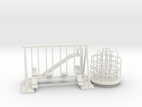 Playground Set - HO 87:1 Scale in White Strong & Flexible