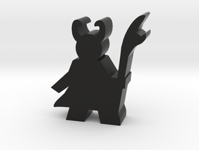Game Piece, Trickster Villain Meeple - Large in Black Natural Versatile Plastic