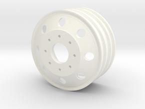 Alcoa 1.9 24mm wide 8 lug wheel in White Processed Versatile Plastic