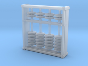 Pocket Abacus (4 digits, 3.2cm) in Smooth Fine Detail Plastic