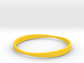Bracelet 6 in Yellow Processed Versatile Plastic