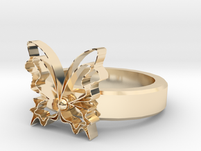 Butterfly Rings in 14k Gold Plated