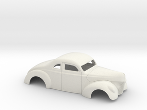1 /8 1940 Ford Coupe 3 Inch Chop in White Natural Versatile Plastic