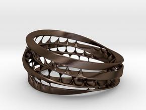 Bracelet 8 in Polished Bronze Steel