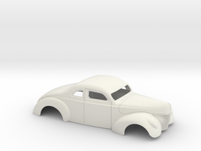 1/12 1940 Ford Coupe 3 In Chop 4  In Section in White Natural Versatile Plastic
