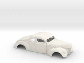 1/8 1940 Ford Coupe 3 In Chop 7  In Section in White Natural Versatile Plastic