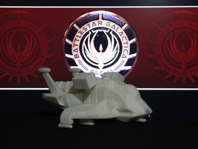Raptor, Combat in Flight (Battlestar Galactica) in White Natural Versatile Plastic: 1:72