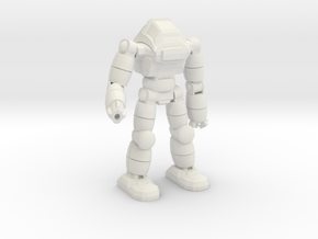 Neo Battlesuit Pose 3 in White Natural Versatile Plastic
