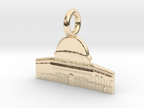 Dome of the Rock, Jerusalem, Israel Charm in 14K Yellow Gold