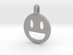 Happy Smile 3D printed jewelry pendant in Aluminum