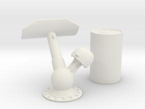1/24 K-Gun - Depth Charge Unloaded in White Natural Versatile Plastic