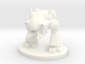Xcom Sectopod 28mm scale in White Strong & Flexible Polished