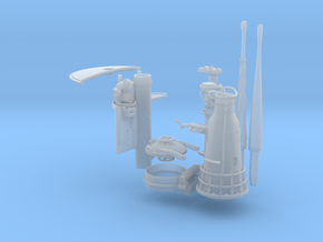 1/32 U boat conning tower details in Smooth Fine Detail Plastic