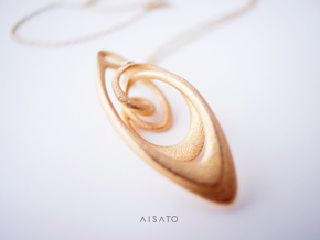 Loop Pendanttop  in Polished Gold Steel