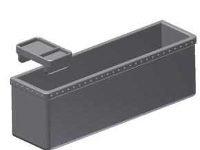 1:6 Scale Map Box & Tray (412 Model) in White Processed Versatile Plastic