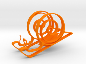 Cute Snail Phone Stand  in Orange Strong & Flexible Polished