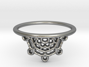 Half Lace Ring - Size 6.5 in Natural Silver