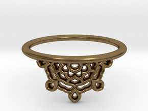 Half Lace Ring - Size 6.5 in Natural Bronze