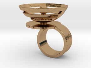 Orbit: US SIZE 4.5 in Polished Brass