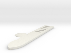 Shin tool Combat knife  in White Natural Versatile Plastic