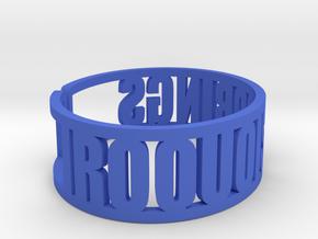 Iroquois Springs Cuff in Blue Processed Versatile Plastic