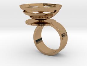 Orbit: US SIZE 8 in Polished Brass