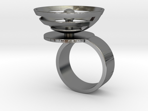 Orbit: US SIZE 9 in Polished Silver