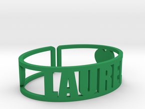 Laurel Cuff in Green Processed Versatile Plastic