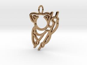 Koala Pendant in Polished Brass