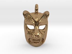 Leopard kabuki-style Pendant in Natural Brass