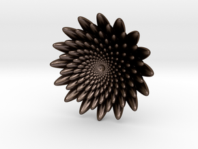 Small flower in Polished Bronze Steel