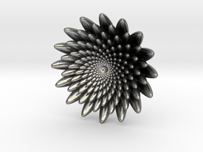 Small flower in Polished Silver