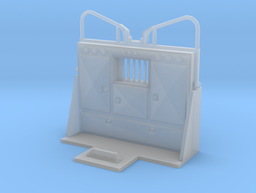 1/50th Cabinet Headache Rack guard with ears in Smooth Fine Detail Plastic