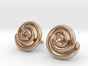Spiral Earrings  in 14k Rose Gold Plated Brass