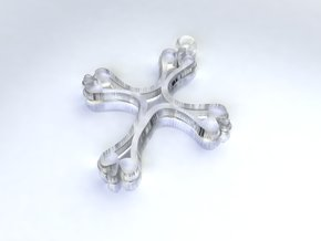 Cross Pendant of Hope medium in Smoothest Fine Detail Plastic