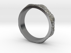 Fractal Braid Ring in Polished Silver