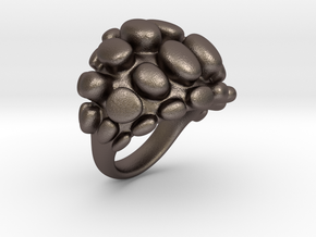Bubble Ring in Polished Bronzed Silver Steel