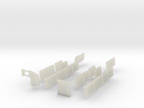 N Scale BART C Car Windows in Transparent Acrylic
