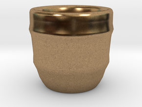 Design Cup for Coffee or else will keep the Coffee in Natural Brass