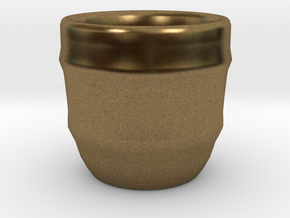 Design Cup for Coffee or else will keep the Coffee in Natural Bronze