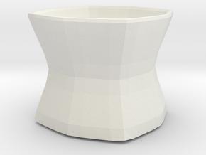 Chalice multipurpose container in White Natural Versatile Plastic