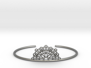 Half Lace Cuff - Medium in Natural Silver