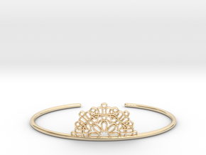 Half Lace Cuff - Medium in 14k Gold Plated Brass